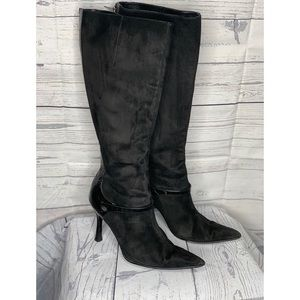 Colin Stuart Knee High Heeled Boots Sz 9.5